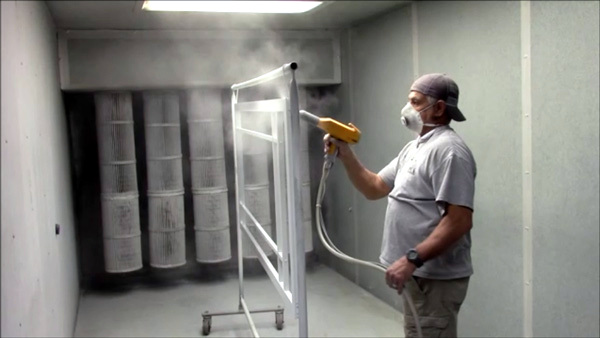 The powder coating process is done by hand to the PCA aluminium screen doors