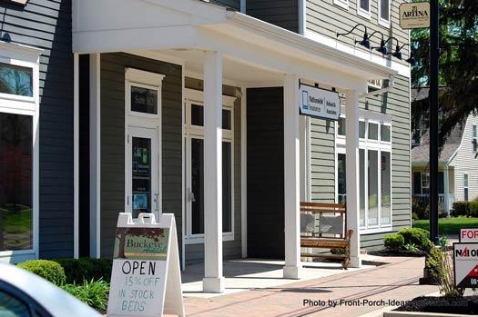 porch glider in front of business establishment
