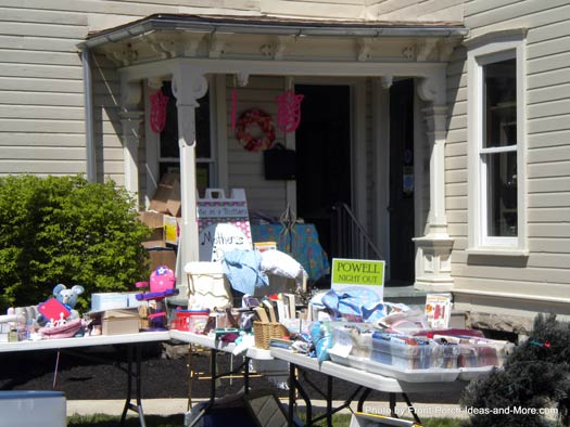 yardsale on the porch