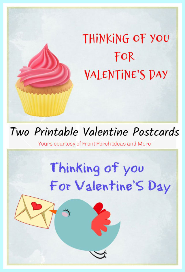get free printable valentine postcards