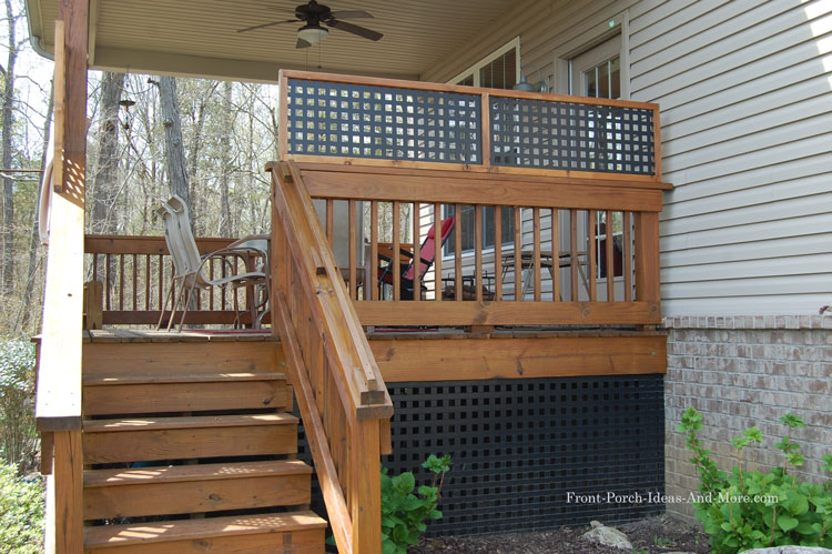 vinyl lattice top fence for privacy fence on porch