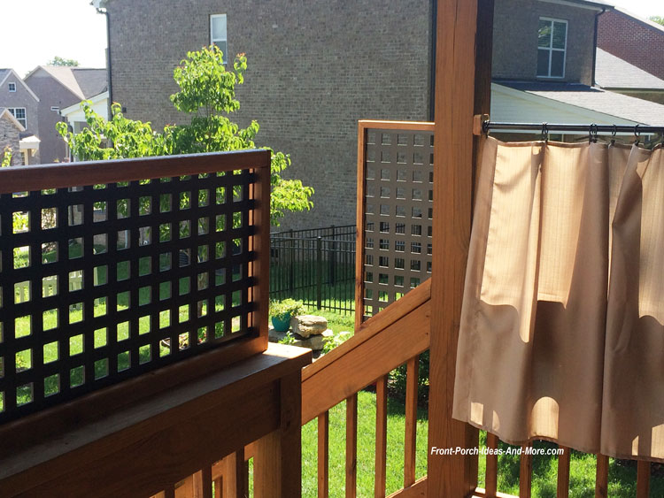 privacy panels on back porch