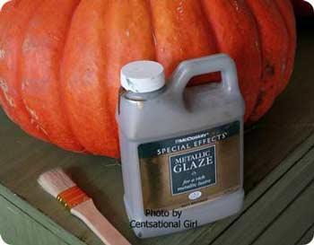 metallic glaze for pumpkins