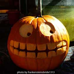 picture of a carved pumpkin