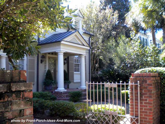 quaint small front porch