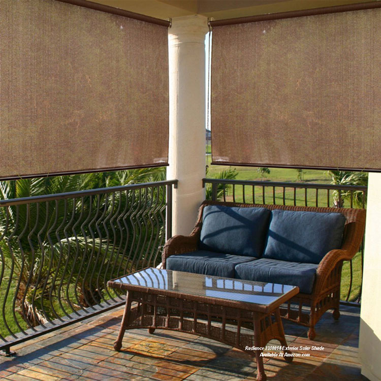 Roll up porch shades for comfort and privacy for Roll up screen porch