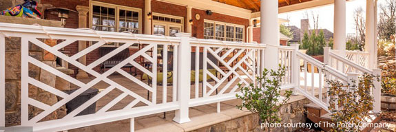 Chippendale porch railings by The Porch Company, Nashville, TN