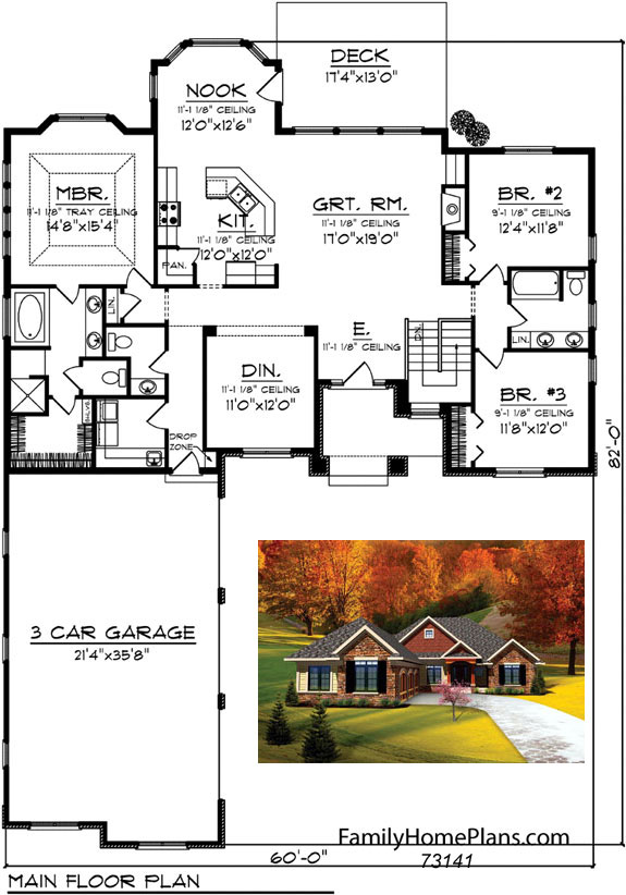 ranch home plans 73141 from Family Home Plans