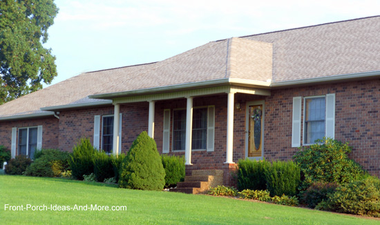 side view of a mansard roof on a ranch home design