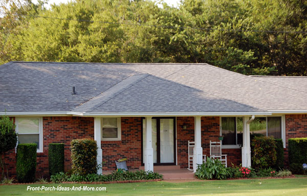 Porch roof designs front porch designs flat roof porch for Hip roof house plans