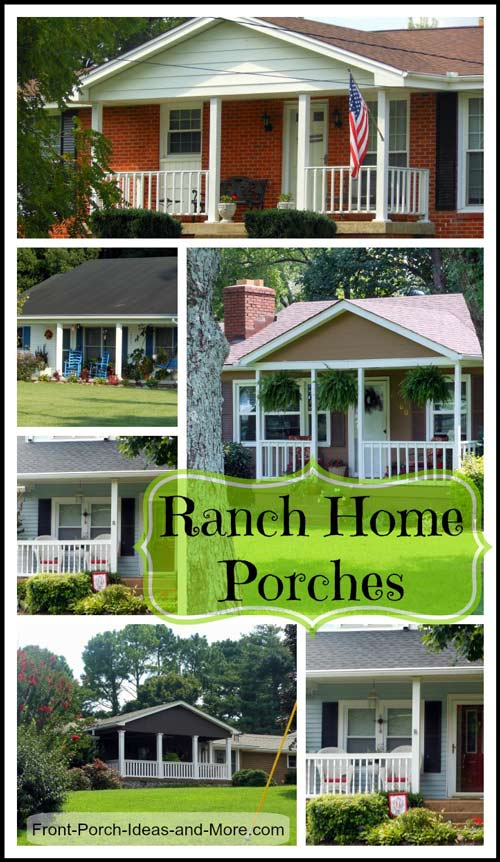 Ranch home porches add appeal and comfort front porch for Comfort house