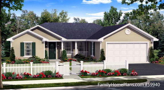 ranch home plans 59940 from familyhomeplans.com