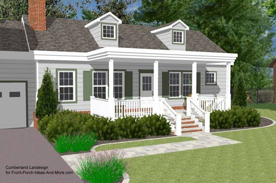 3 D Rendering Of Ranch Style Home With A Flat Roof Design