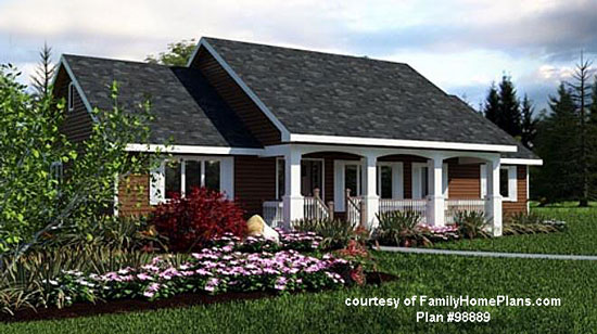 classic lines for a ranch home family home plan 98889 - House Plans With Porches