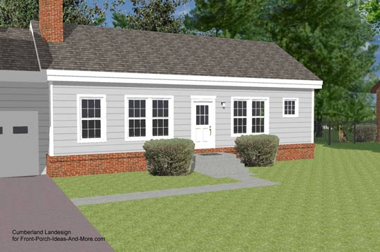 3-d rendering of ranch style home