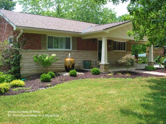 Landscaping Ideas For A House With A Front Porch : Mobile home plans with covered porches trend design