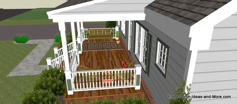Great Front Porch Designs Illustrator On A Basic Ranch Home Design - Porch Styles For Ranch Homes