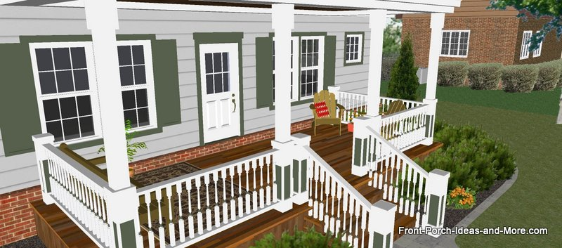 Great Front Porch Designs Illustrator on a Basic Ranch Home ... on small house deck ideas, deck design ideas, backyard deck ideas, ranch home lighting, raised ranch deck ideas, ranch home christmas, townhouse deck ideas, ranch home furniture,
