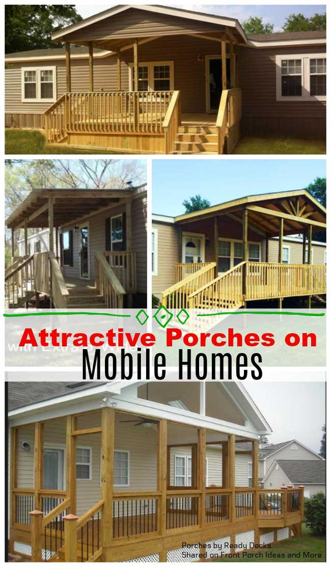 Wonderful porches on mobile homes
