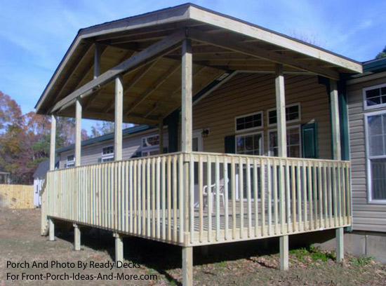 Double wide mobile home porches - Mobile home deck designs ...