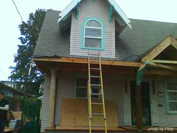Flory's After Rebuild Porch Remodel