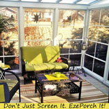 Learn more about screen porch windows from the Rekal Company