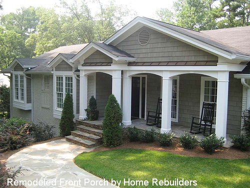 Ranch Home With Porch Of Remodeled Ranch 500 375 For The Home Pinterest