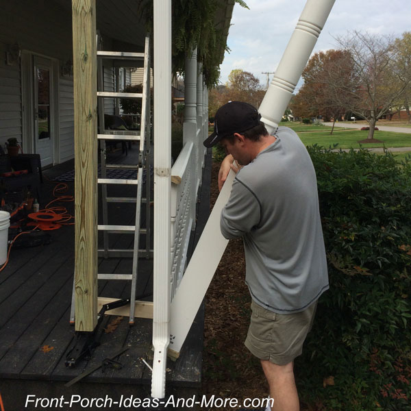 Removing old front porch columnFront Porch Columns   Vinyl Porch Posts. Front Porch Columns Images. Home Design Ideas