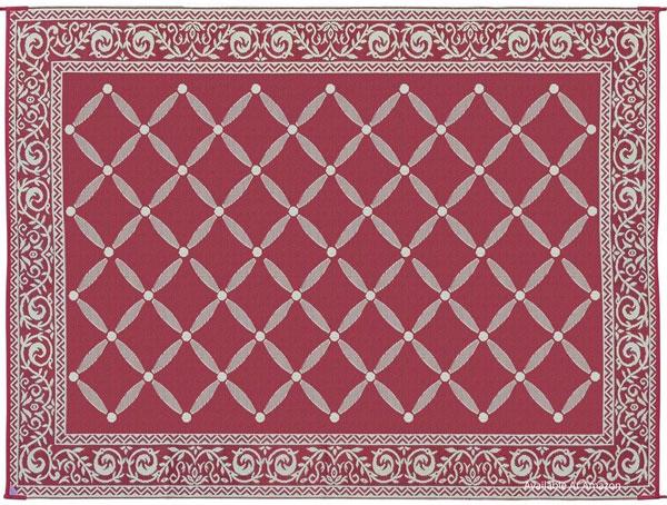 reversible burgandy outdoor rug