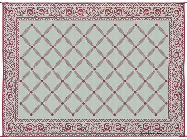 reversible beige outdoor rug
