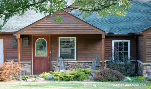 cabin style porch with gable roof