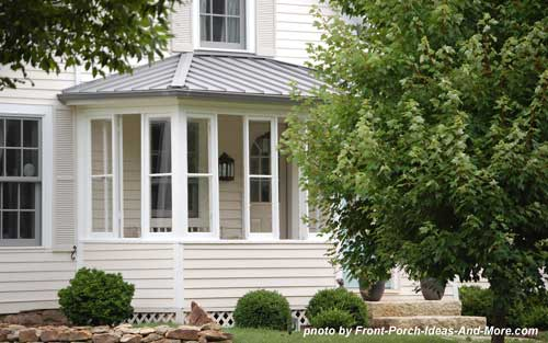 appealing enclosed front porch