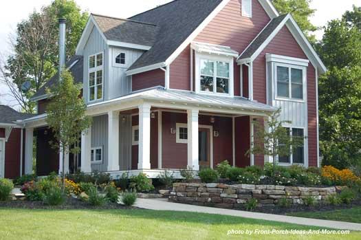a contemporary farmhouse porch with open porch