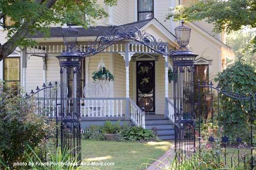 classic Victorian porch in Richfield Ohio