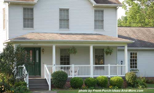 front porch with hip style roof
