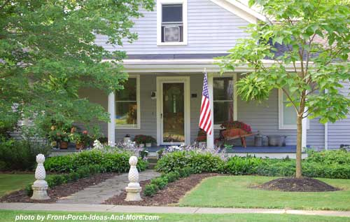open porch with curb appealing landscaping