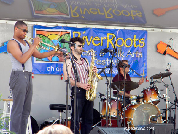 band playing at river roots festival in madison indiana