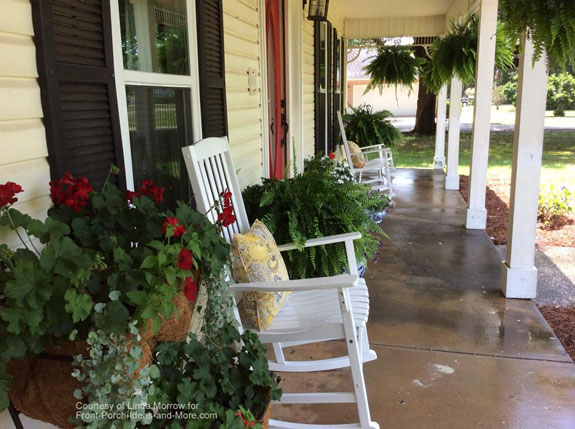 Linda has a rocking chair porch that just says welcome
