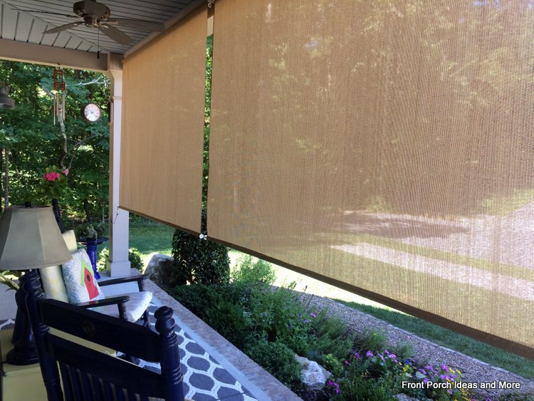 Roll up porch shades for comfort and privacy for Roll up screens for porches