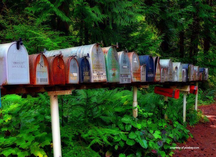 row of mailboxes courtesy of pixabay.com