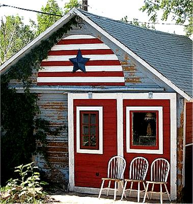 Paul's patriotic garage