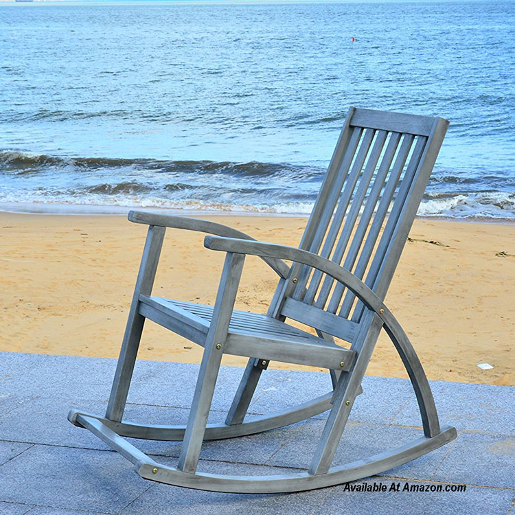 safevieh grey washed rocking chair available at Amazon.com