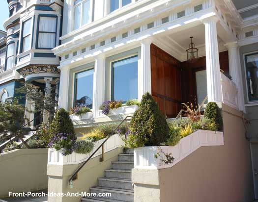 creative front porch landscaping