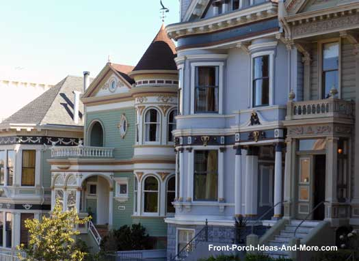 colorful front porches