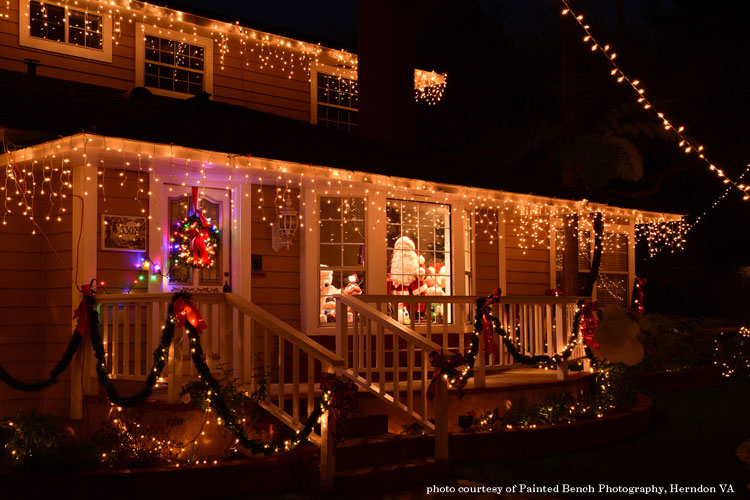 santa in living room and front porch courtesy of Painted Bench Photography, Herndon VA