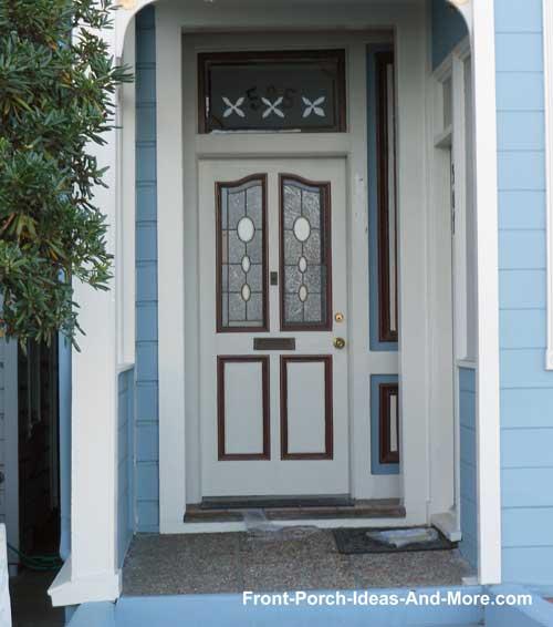 Small porch delightful front door