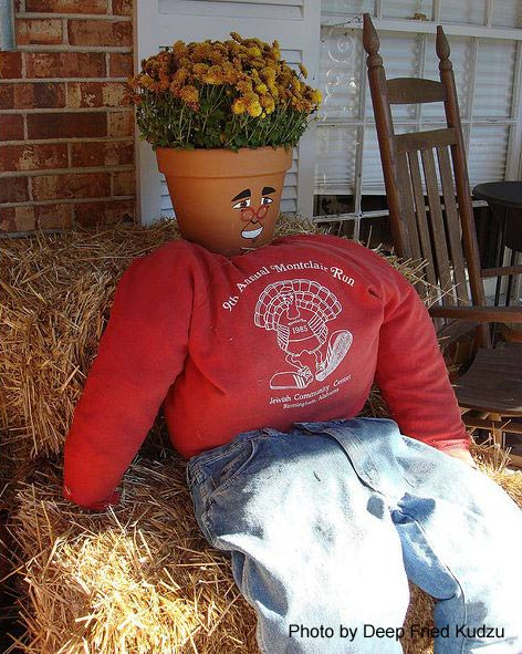 Very creative scarecrow