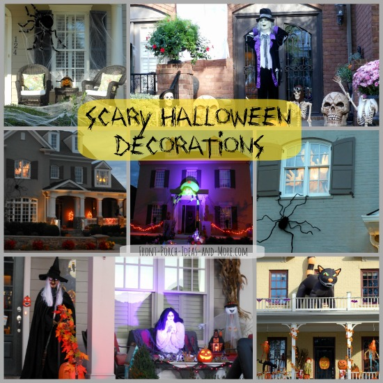 scary halloween decorations collage - Scary Halloween Decorating Ideas