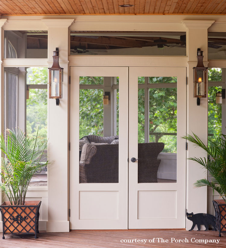 elegant screen door on screened porch by The Porch Company