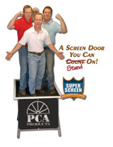 pca screen door company logo